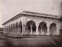 The Diwan-i-Am in Agra Fort.